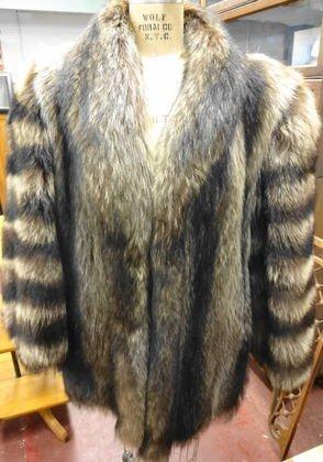 Raccoon Fur Jacket, Lined