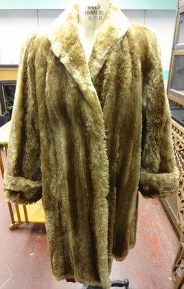 Sheared Beaver Fur Coat c. 1940