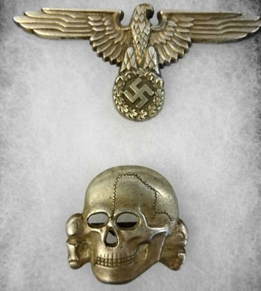 WW2 German SS Eagle and Skull