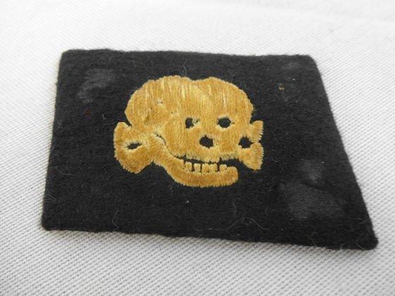 WW2 German SS Skull Collar Tab