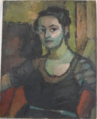 Erwin Wending, Modernist Portrait Dated 1946