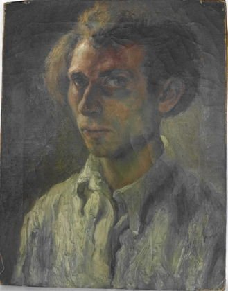 Erwin Wending, Oil on Canvas, Self Portrait