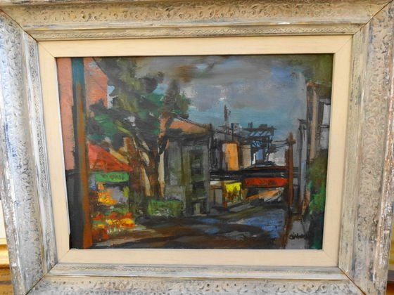 WPA Oil Painting, New York City, signed O'Hara