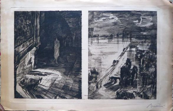 Albert DeCaris, Two Etchings & Dry Point, Signed