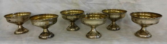 Set of 6 Sterling Sherberts, Hamilton