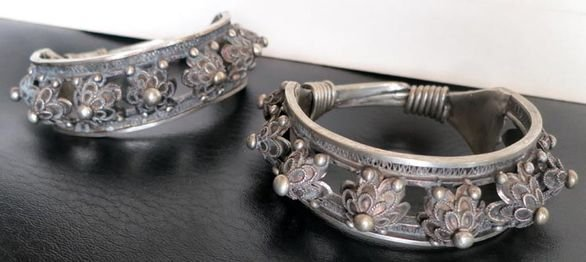 Antique Silver Filigree Bracelets (2)