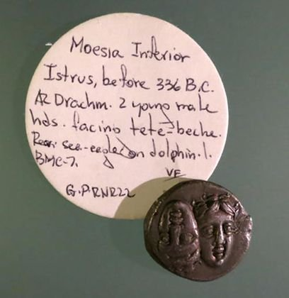 "Greek Silver Coin ""Moesia Inferior Istrus"", 336 BC"