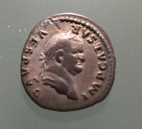 "Roman Empire Silver Coin, ""Vespasian"", 74 AD"
