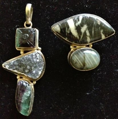 Sterling Silver and Gem Stone Pendants (2)