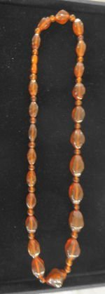 Russian Amber Graduated Oval Beads