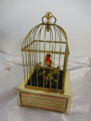 German Automaton, Bird in Brass Cage, Working