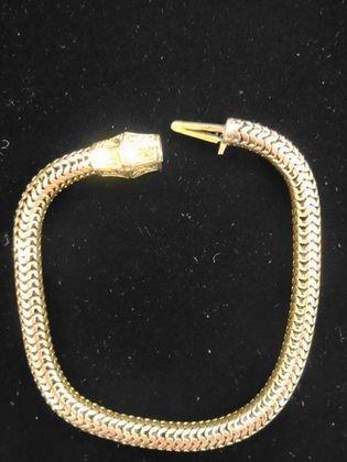"Estate14k Yellow Gold Bracelet, 7.75"", 13.2 g."