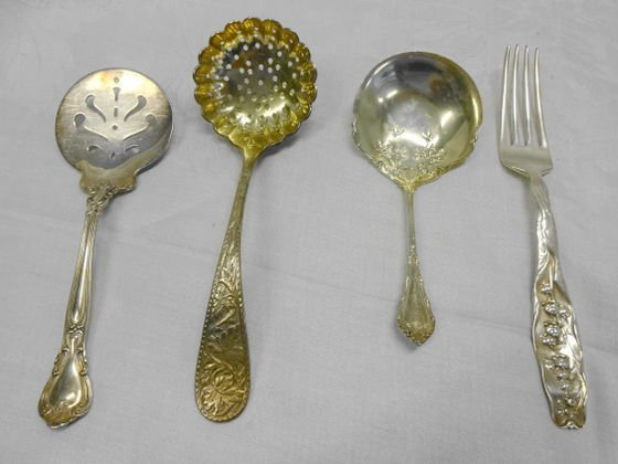4 Piece Sterling Serving Accessories, Circa 1930s