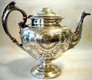 19th C Sterling Silver Teapot, Hallmarked Birmingham