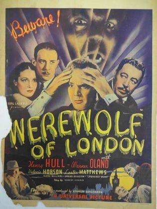 """Werewolf of London"" (Universal, 1935) Window Card"