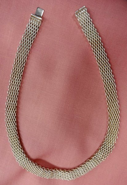 Tiffany & Co. Sterling Modern Mesh Necklace
