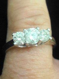 Estate 14k Gold, Platinum & Diamond Ring