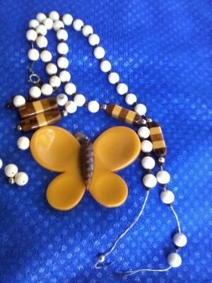 "Bakelite ""Butterfly"" Necklace, c.1940"