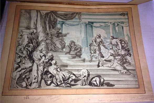 "Francesco Solimena ""King Solomon's Judgment"" 18th c"