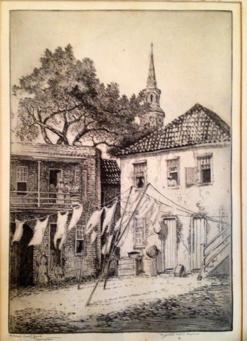 Elizabeth O'neill Verner Etching , Charleston, Signed
