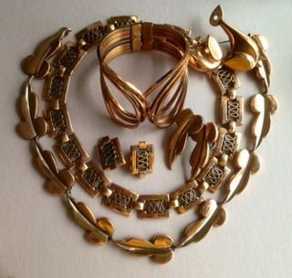 Matisse Renoir Copper Jewelry, Signed (5) Pieces
