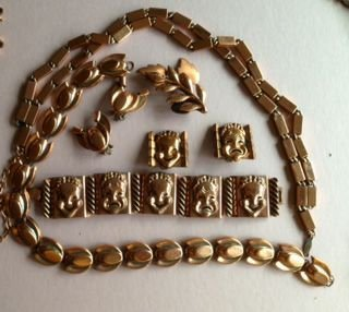 Renoir Copper Jewelry, Signed (6) Pieces