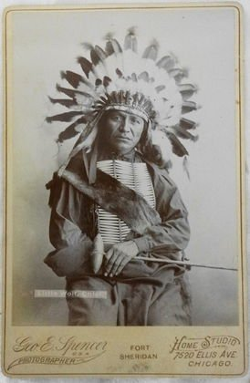 American Indian Cabinet Card, Chief Little Wolf