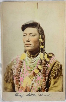 American Indian Cabinet Card, Chief Little Head
