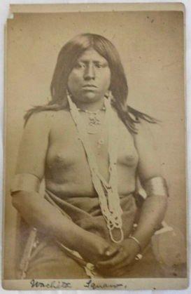 American Indian Cabinet Card, Wachita Squaw