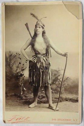 American Indian Cabinet Card, Gowango Mohawk