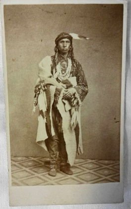 American Indian Cabinet Card, Sioux Dandy