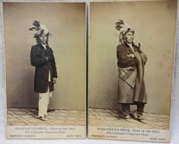 American Indian CDV's (2), Chippewa Chief