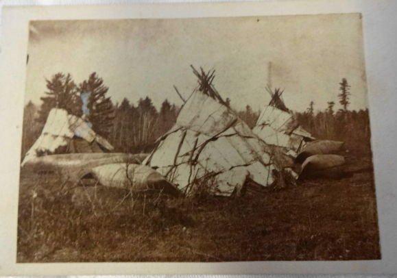 American Indian CDV, Chippewa Wigwams