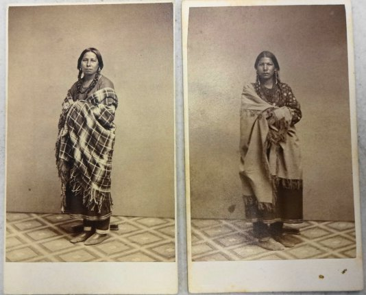 American Indian CDVs (2), Sioux Women