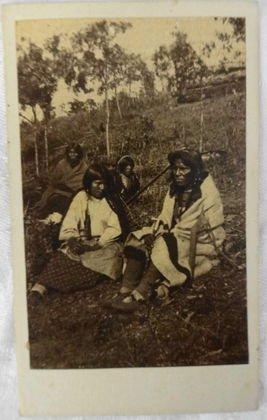 American Indian CDV, Chippewa Wedding at Crow Wing