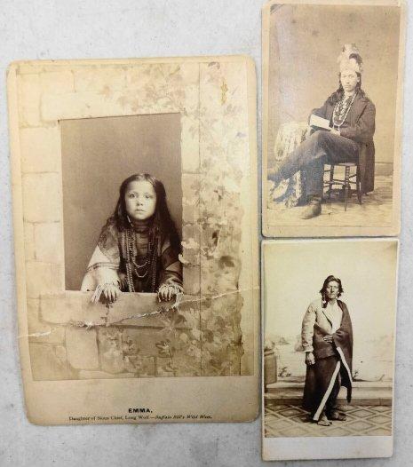 American Indian CDVs (3), Son of Chief Winnebago