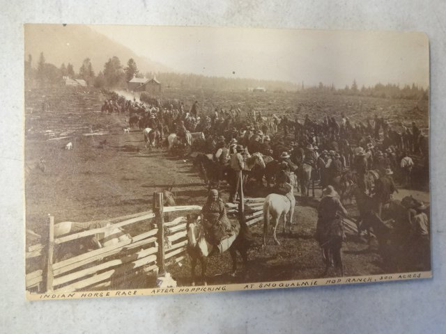"""American Indian Cabinet Card, """"Indian Horse Race"""""""