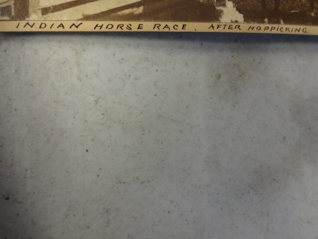 """American Indian Cabinet Card, """"Indian Horse Race"""" - 2"""