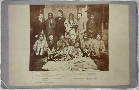 American Indian Cabinet Card, EL Eaton, Omaha, Nebraska