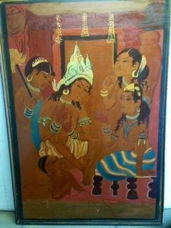 Southeast Asian (India) Buddha Painting c. 1930