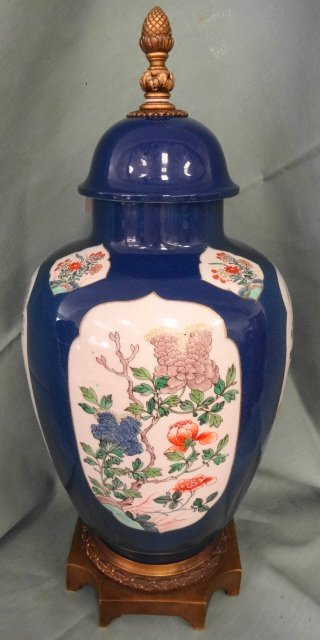 "French 19 C Samson Porcelain Bronze 22"" Urn"