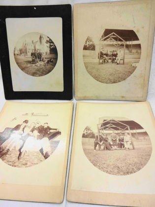 1889 Baseball Team Mounted Albumen Photographs (4)
