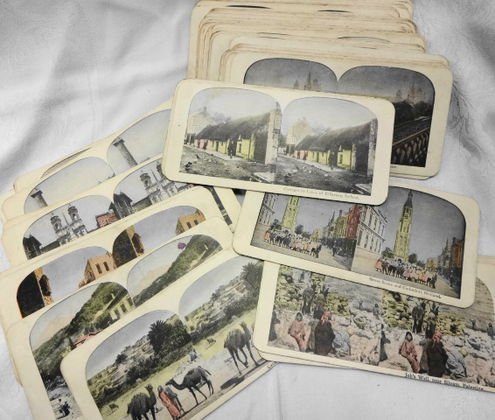 Stereoview Cards (73), in Color, Europe, Holy Land &