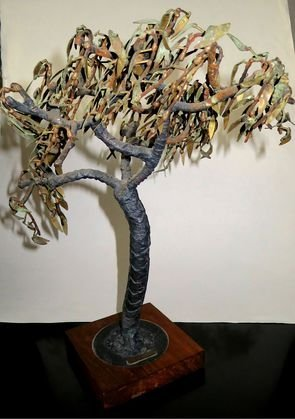 Copper and Steel Tree Sculpture, H K Pang, c.1960
