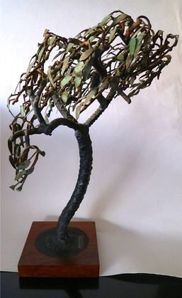 Copper and Steel Tree Sculpture, H K Pang, c.1960 - 3