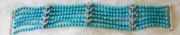 Persian Turquoise & Diamond, 14k Gold Bracelet