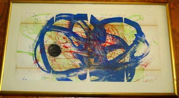 "Joan Miro, ""Bleu Sur vert et Rouge"", 1961 Signed"