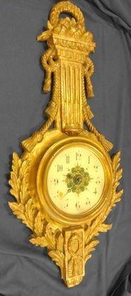 Carved Gilt Wood Girandole Clock