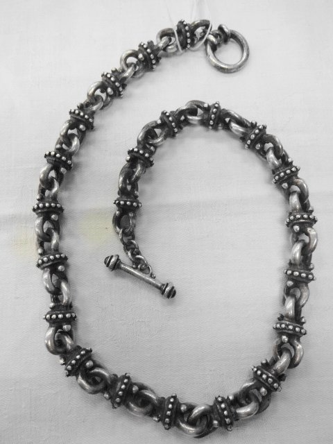 Lazaro Sterling Silver & Sapphire Necklace, 6.8 oz.