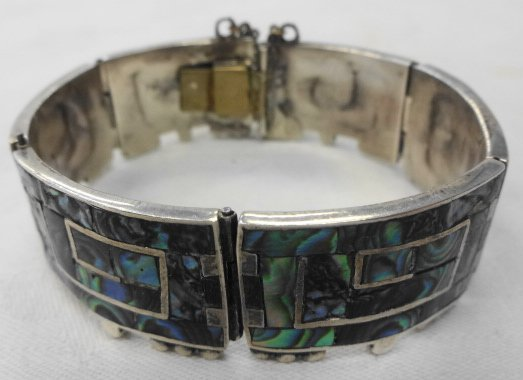 Taxco Mexican Sterling & Abalone Bracelet